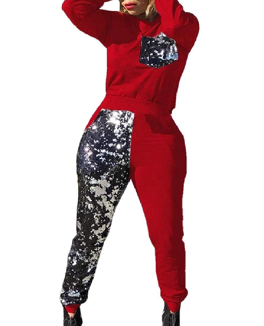 シニスソーダ水シュガー女性のポケット2ピースセット作物トップ+ロングパンツbodyconジャンプスーツ
