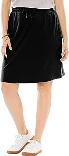 Woman Within Women's Plus Size Sport Knit Skort