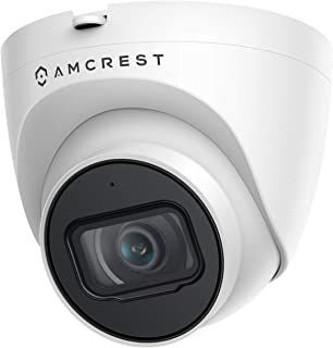 Amcrest 5MP UltraHD Outdoor Security IP Turret PoE Camera with Mic/Audio, 5-Megapixel, 98ft NightVision, 2.8mm Lens, IP67 ...