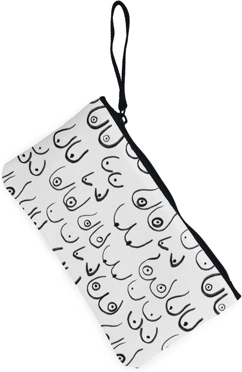 AORRUAM Funny chest Canvas Coin Purse,Canvas Zipper Pencil Cases,Canvas Change Purse Pouch Mini Wallet Coin Bag