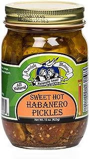 Sweet Hot Habanero Pickles