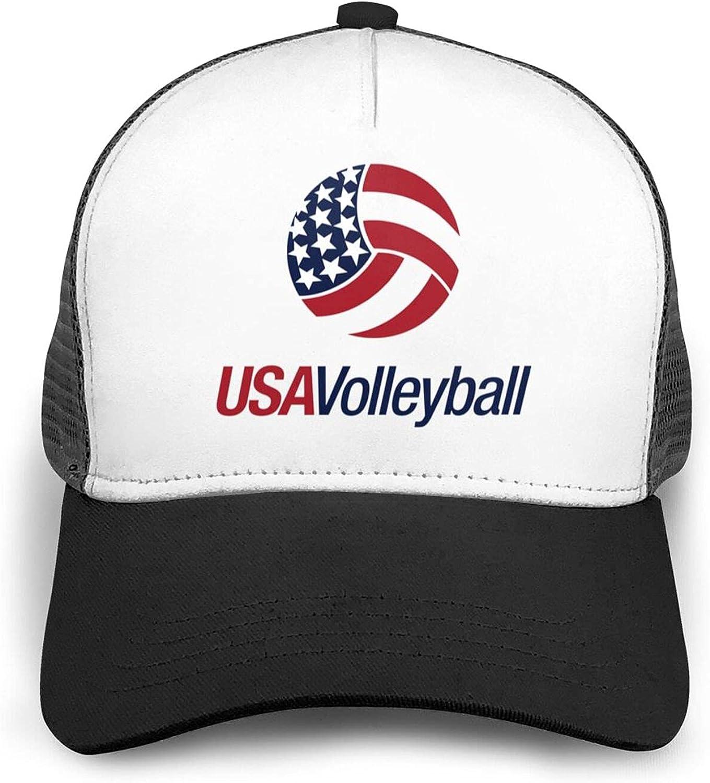 Cwokakde USA Men's Volleyball Baseball Cap Trucker Mesh Back Core Baseball Cap