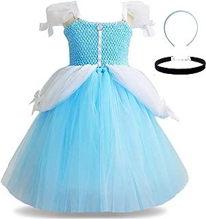 Princess Cinderella Snow White Aurora Mermaid Anna Jasmine Costume Toddler Girls Tutu Dress Up Halloween