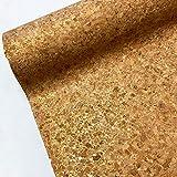 Natürlicher Kork PU-Leder Stoff zum Basteln Dekorieren