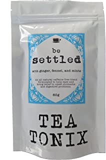 BE Settled Stomach Ease Tea with Ginger, Fennel, Mint, and Catnip 60g - to Improve Digestion, Ease Stomach Discomfort and Bloating, and Help Eliminate Indigestion