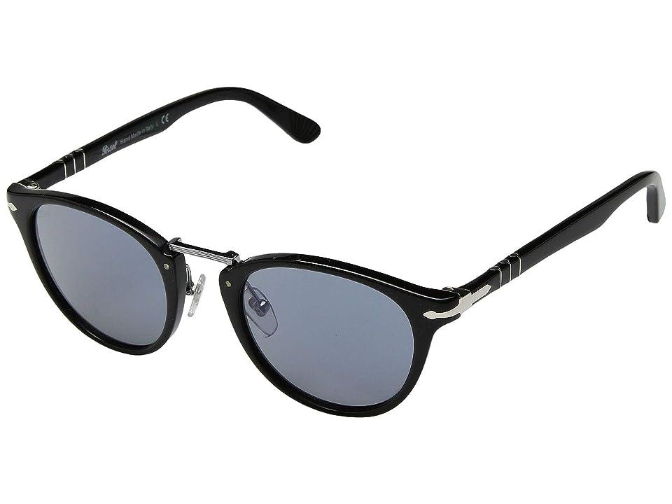 Persol 0PO3108S (Black/Light Blue) Fashion Sunglasses