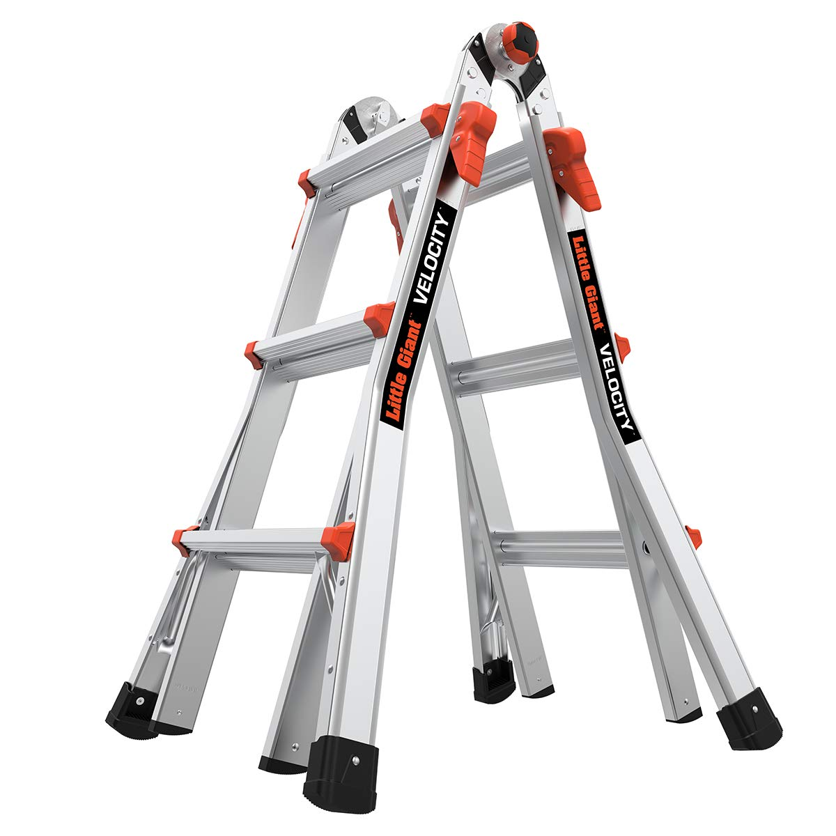 Amazon Com Little Giant Ladders Velocity With Wheels M13 13 Ft Multi Position Ladder Aluminum Type 1a 300 Lbs Weight Rating 15413 001 Home Improvement