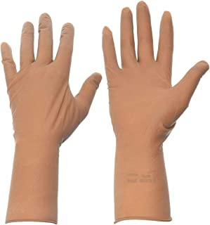 Disposable Gloves, Latex, Brown, 6.5, PR