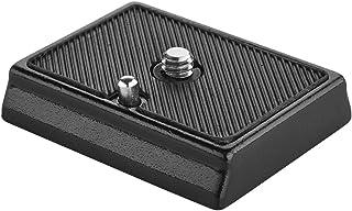 Walimex Universal Schnellwechselplatte FT 001P 1/4 Zoll Anschluß, kompatibel mit z.B. Manfrotto MA200 PL 14, 52 x 42 x 10 mm, Aluminium mit Gummierung