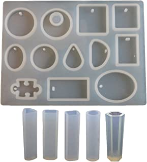 Incluye Accesorios para fabricaci/ón de Joyas artesan/ía Colgante Collar HOMEIDOL Juego de 86 moldes de Silicona Pendientes Molde de Resina