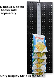plastic merchandising clipping display strips