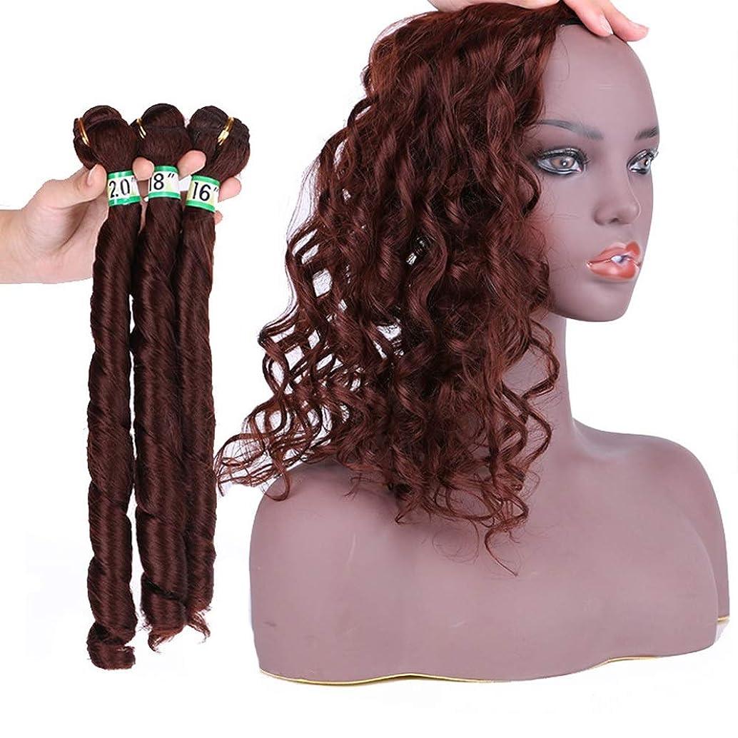 ご覧ください蓮リハーサルYAHONGOE 人工毛エクステンション織り16