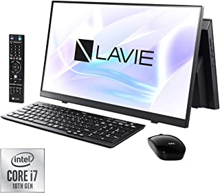 NEC LAVIE Home All-in-one HA770/RAB ファインブラック - 23.8型デスクトップパソコン[Core i7 / メモリ 8GB / SSD 256GB+HDD 3TB / BDドライブ/TV機能/Microsoft Office 2019] PC-HA770RAB