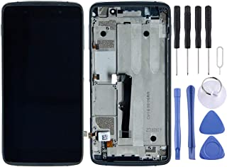 JIJIAO Repair Replacement Parts LCD Screen and Digitizer Full Assembly with Frame for Alcatel One Touch Idol 4 LTE / 6055(Black) Parts (Color : Black)