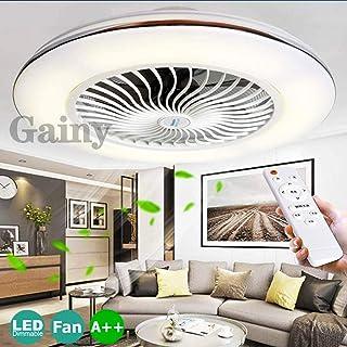 Ventilador De Techo LED Ajustable Con Lámpara Del Dormitorio De La Lámpara De Techo Control Remoto De Iluminación 80W Regulable Ventilador De Velocidad De Viento Silencioso Luz De Los Niños Modernos