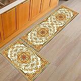 Alfombrillas de Cocina con impresión Persa, alfombras de Entrada para la decoración del Dormitorio de la Sala de Estar del hogar, alfombras Antideslizantes para el baño A13 50x160cm