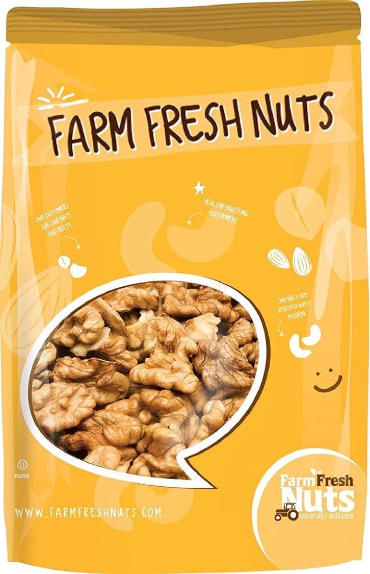 Dry Overseas parallel import regular item Roasted Unsalted Great interest California Walnuts Lb. t 1 - Oven