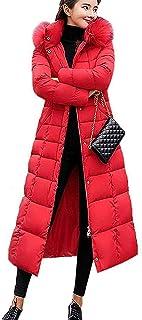 Gutsbox Damski płaszcz puchowy, kurtka zimowa, długa kurtka puchowa, ciepła parka zimowa, gruba kurtka pikowana, płaszcz p...