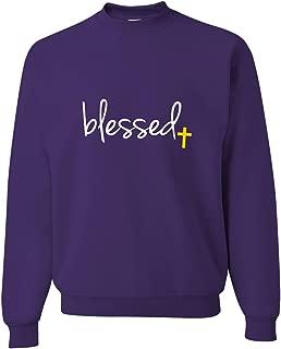 Adult Blessed Christian Humble Sweatshirt Crewneck