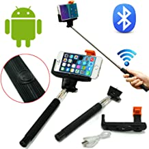 Selfie Stick, Z07-5 Quicksnap Pro 3-in-1 Self-portrait Monopod Extendable Wireless Bluetooth Selfie Stick with Built-in Bluetooth Remote Shutter with Adjustable Phone Holder for Iphone 6, Iphone 6 Plus, Iphone 5 5s 5c, Android (black)