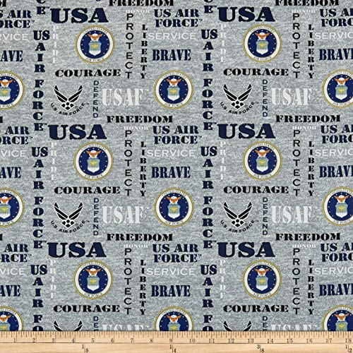 Sykel Enterprises Military Air Force Heather Allover Fabric, Multicolor, Fabric By The Yard