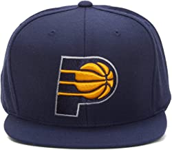 Mitchell & Ness Indiana Pacers NBA Team Logo Solid Wool Adjustable Snapback Hat