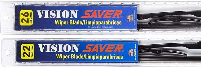 Vision Saver - Windshield Wiper Blade Bundle - 3 Items: Driver & Passenger Blades & Reminder Sticker fits 2008-2015 Honda Civic (Sedan)