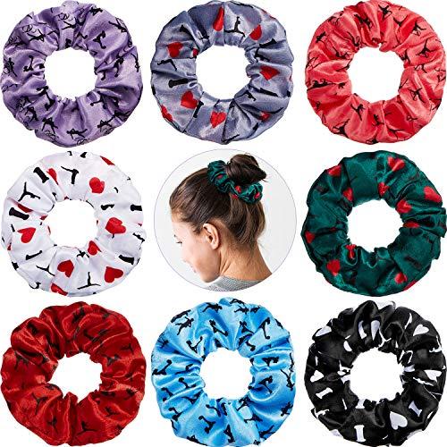 8 Pieces Gymnastics Hair Scrunchies Velvet Gymnastics Hair Elastics Gymnastics Hair Ties Gymnastics Hair Accessories for Gymnast Women Girls