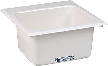 Mustee 20 Bar Sink, 15-Inch x 15-Inch, White
