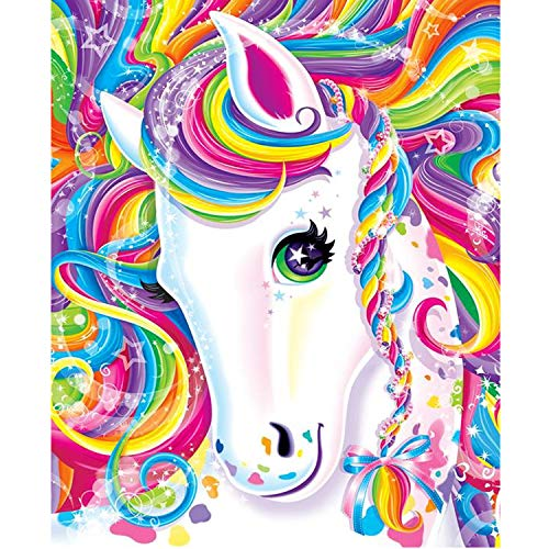 NEILDEN DIY 5D Diamond Painting Kits for Adults Kids Unicorn Full Drill Round Crystal Rhinestone Gem Dimond Art Painting for Adults Begginner Perfect for Home Wall Decor(Canvas Size:14x18inch/35x45cm)