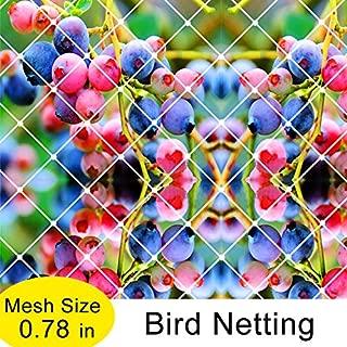 Agfabric Garden Bird Netting Anti Bird Protection Net Fruit Vegetables Flower Garden Pond Netting - Pack of 2-25x50ft, White
