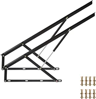 Homend Pair of FT Pneumatic Storage Bed Lift Mechanism Heavy Duty Gas Spring Bed Storage Lift Kit for Box Bed Sofa Storage Space Saving DIY Project Lifter Lift Up Hardware (50