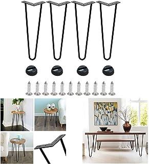 pie de silla con 20 tornillos 4 protectores de patas Pie de mueble escandinavo alfileres para mesa 4 unidades