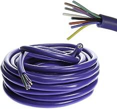 VOODOO 18 AWG Gauge 9 Conductor Speed Blue Wire Speaker Trailer Copper Stranded (20 FT)