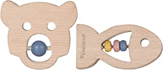 Kindsgut Bijtringen-set, hout, baby, dieren, natuur