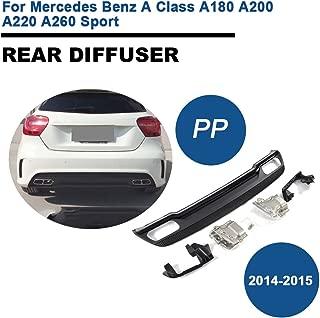 TGFOF PP Rear Bumper Diffuser Lower Lip Spoiler with Exhaust Muffler for Mercedes Benz A Class W176 A45 AMG Sport 2014-2015 (2014-2015)