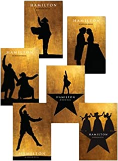 Official Hamilton An American Musical Silhouette Postcard Set