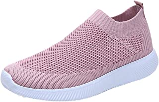 Kauneus Walking Shoes for Women Lightweight Athletic Slip-On Running Shoes Fashion Sneakers Sports Shoes
