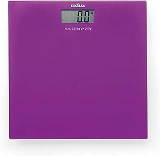 Excelsa SPA - Báscula eléctrica (30 x 30 cm), Color Morado