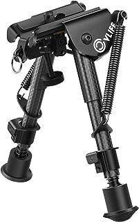 CVLIFE Carbon Fiber Bipod - 6 Inch to 9 Inch Adjustable Super Duty Tactical Rifle Bipod