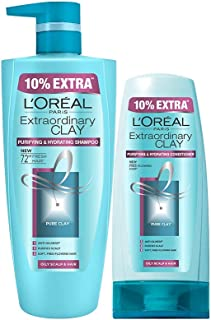 L'Oreal Paris Extraordinary Clay Shampoo & Conditioner, 815 ml (Pack of 2)