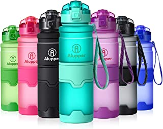 Water Bottle- Tritan Bottles for Kids/Adult- Leak Proof, Eco-Friendly Portable Sports Bottles with Filter, Flip Top Lid, Pop Opens with 1-Click - Reusable,BPA-Free