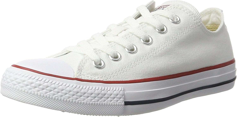 Converse Unisex Chuck Taylor All Star Low Basketball shoes (37-38 M EU 7 B(M) US Women 5 D(M) US Men, Optical White)