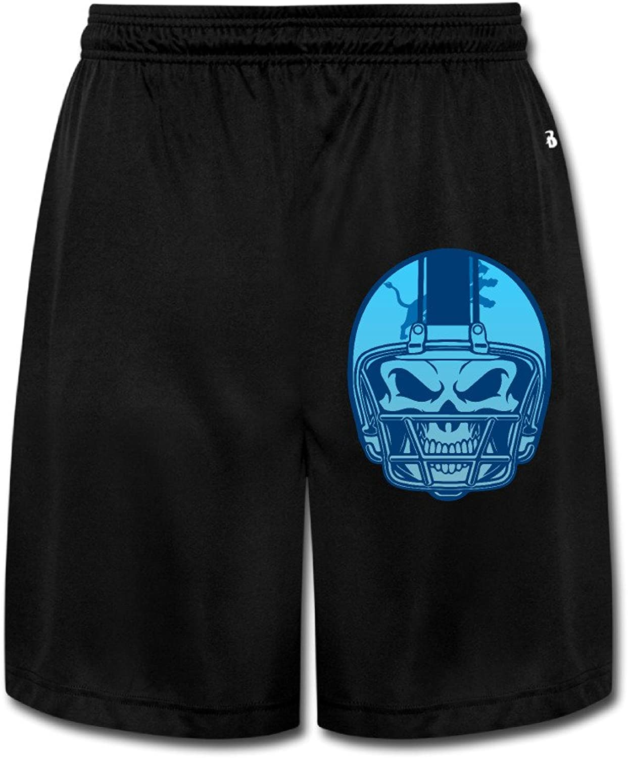 Detriot Cryins Helmet Skull Men's Shorts Sweatpants Black