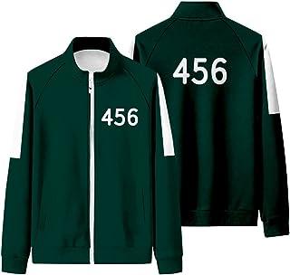 Beautymei Squid Game Tracksuit, dres treningowy dla graczy, 067/456/218/001, z długim rękawem, kurtka z zamkiem błyskawicz...