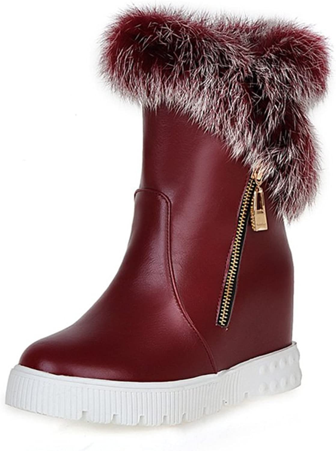 RHFDVGDS Autumn and winter snow boots students increased in boots short tube fur winter boots