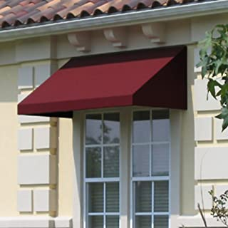 Awntech 3-Feet New Yorker Window/Entry Awning, 16-Inch Height by 30-Inch Diameter, Brown
