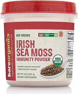 BareOrganics Irish Moss Powder | Superfood Powder | Keto & Paleo | Organic, Vegan, Non-GMO, 8oz