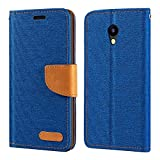 Meizu A5 Case, Oxford Leather Wallet Case with Soft TPU