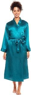 Alexander Del Rossa Women's Lightweight Satin Robe, Long Kimono
